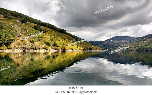 Sil River Canyon, Ribeira Sacra, between Ourense and Lugo provinces, Galicia, Spain