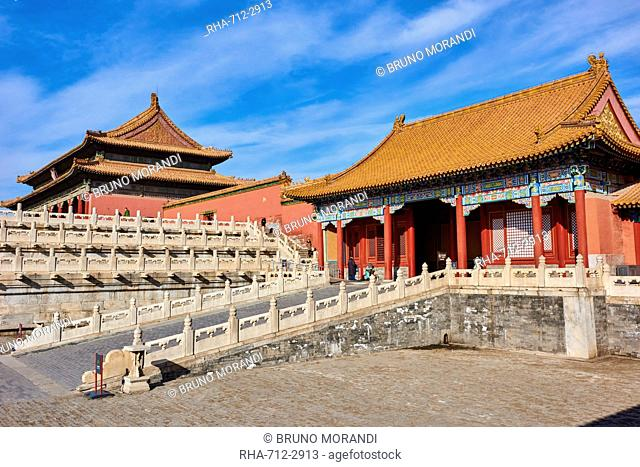 Zhendu gate and the Gate of Supreme Harmony, Forbidden City, Beijing, China, East Asia