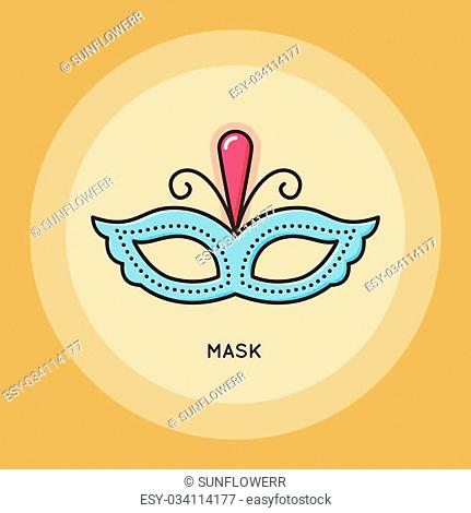 Carnival mask thin line icon. Party and Celebration icon