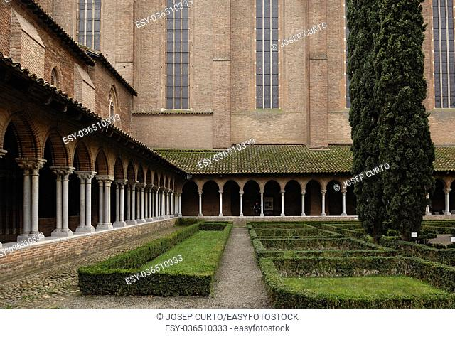 Cloister of Jacobins Church in Toulouse, France