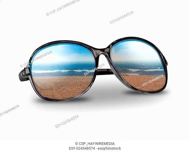 Beach Vacation Sunglasses on White