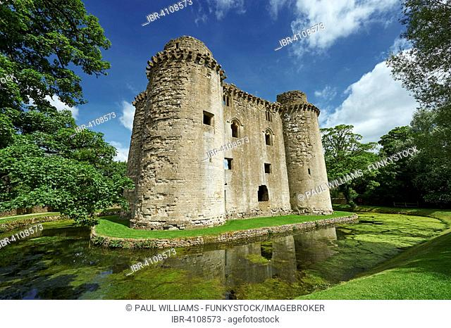 Nunney Castle built in the 1370s by Sir John de la Mere, Somerset, England, United Kingdom