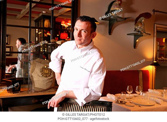 tourism, France, upper normandy, eure, LYONS LA FORET, CHRISTOPHE POIRIER, Chef, RESTAURANT LA LICORNE ROYALE, gastronomy Photo Gilles Targat