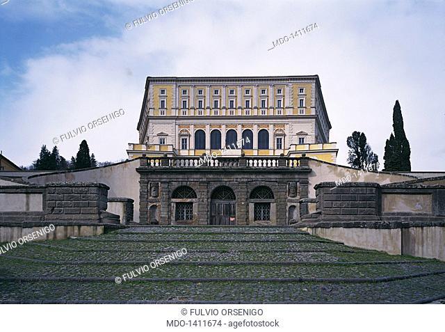 Villa Farnese (Palazzo Farnese), by Barozzi Jacopo known as Vignola, 1550 - 1559, 16th Century. Italy, Lazio, Caprarola (Viterbo), Villa Farnese