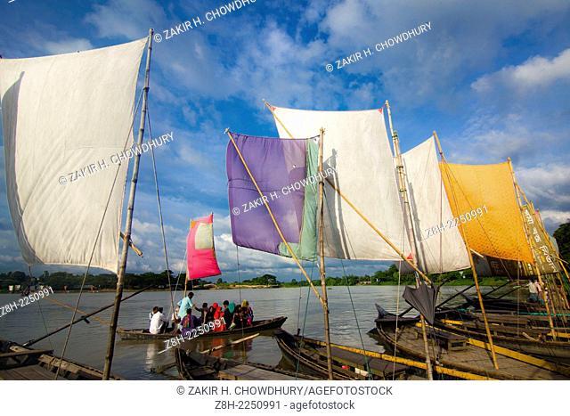 Sail boat in Banglades