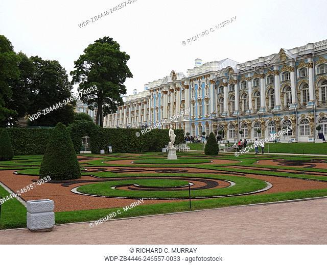 Catherine Palace (1717) and Park (Tsarskoje Selo)-St. Petersburg, Russia