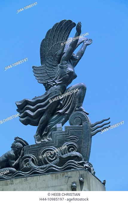 winged monument in Lima, Peru