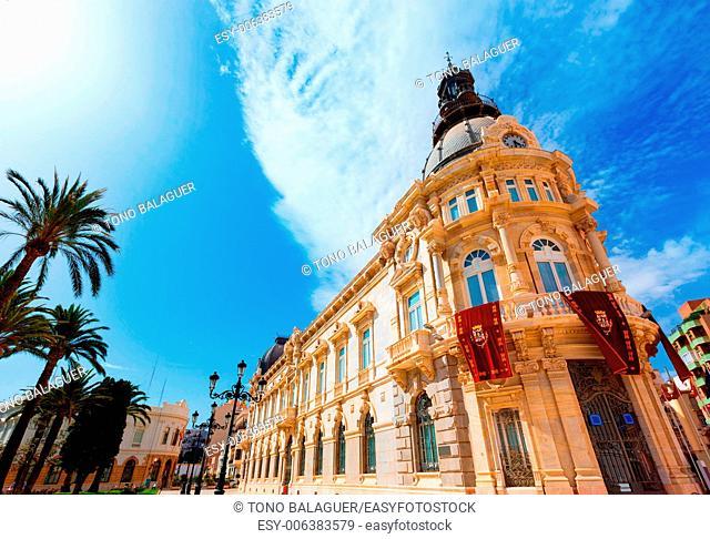 Ayuntamiento de Cartagena city hall at Murcia Spain