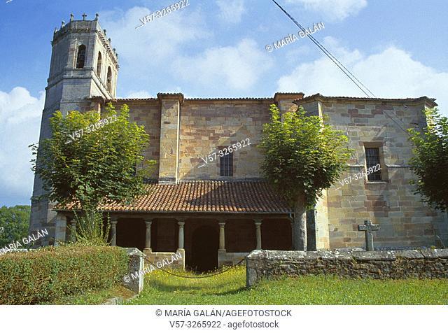 Church. Mazcuerras, Cantabria, Spain
