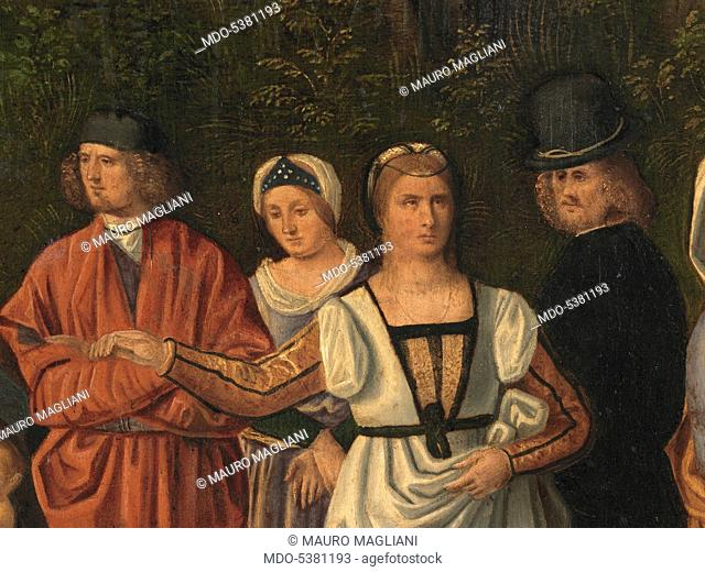 Judgment of Salomon, by Unknown Artist, 1505 about, 16th Century, oil on panel, cm 89 x 72