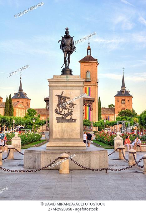 Plaza de Cervantes. Alcalá de Henares. Madrid. Spain
