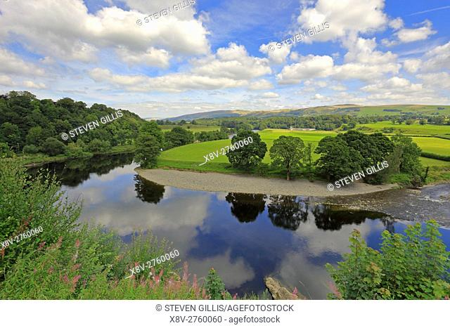 Ruskin's View of the Lune valley from Kirkby Lonsdale, Cumbria, England, UK