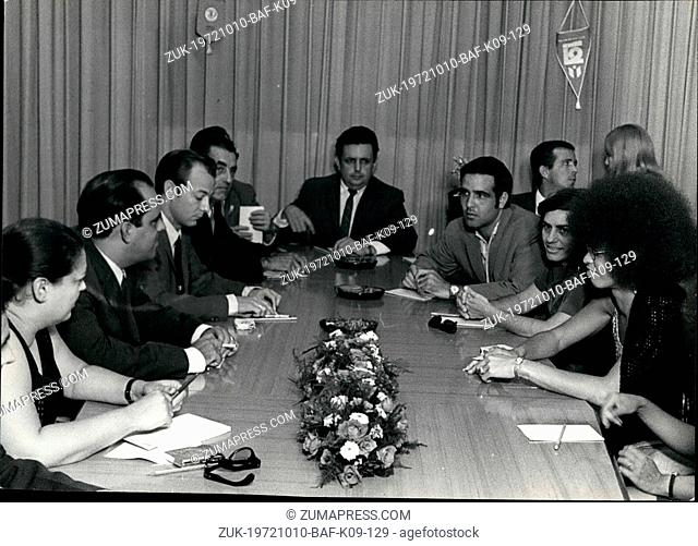 Oct. 10, 1972 - Angela Davis in Cuba Angela Davis, member of the Central Committee of the Communist Party of the United States