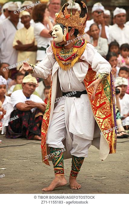 Indonesia, Bali, Mas, temple festival, masked dancer, odalan, Kuningan holiday