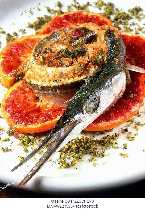 baked marinade garfish with orange