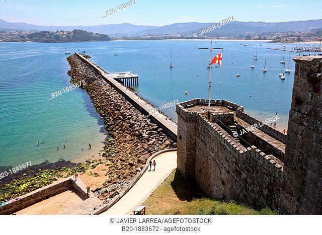 Monterreal castle, Baiona, Pontevedra, Galicia, Spain