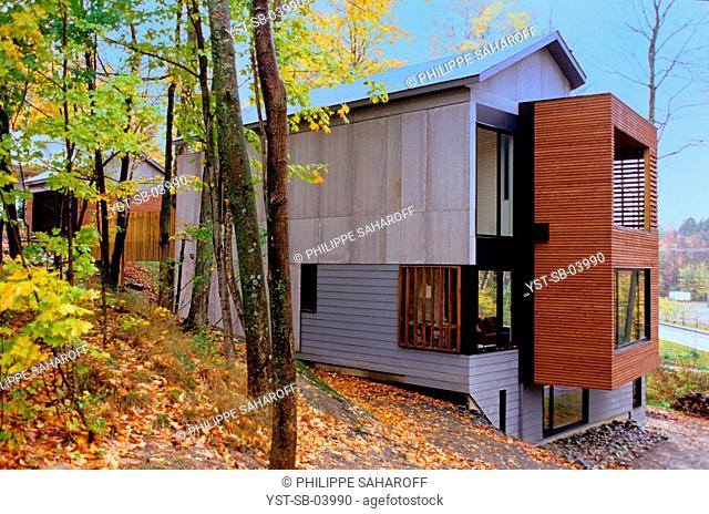 Outdoors, country, Brome lake village, Quebec, Canada