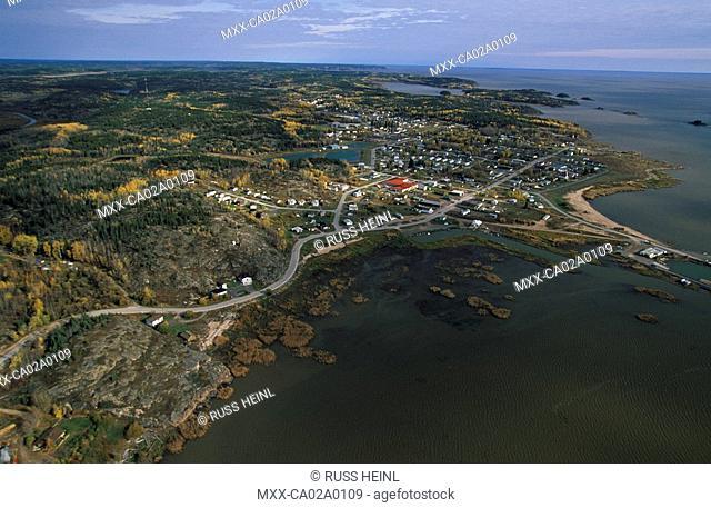 Aerial view of Fort Chipewyan, Alberta