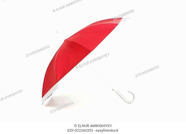 Colourful umbrella isolated on the white background