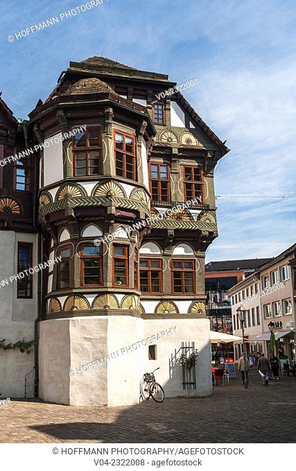 16th century traditional timbered house (Dean's House) in Hoexter, North Rhine-Westphalia, Germany, Europe