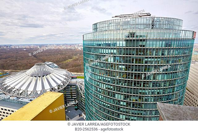 Potsdamer Platz, Sony Center, DB Tower. Berlin, Germany