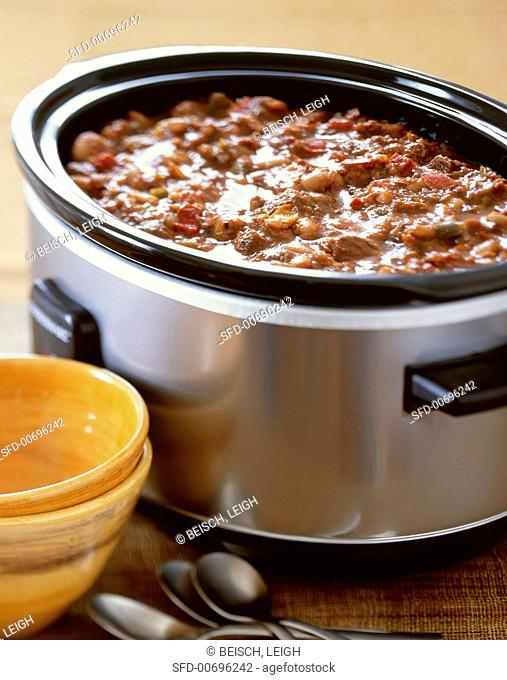 Pork Chili in a Slow Cooker