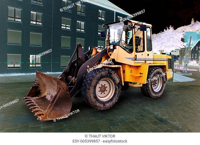 bulldozer working on German roads