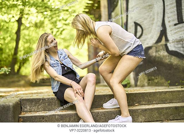 two women, in Munich, Germany
