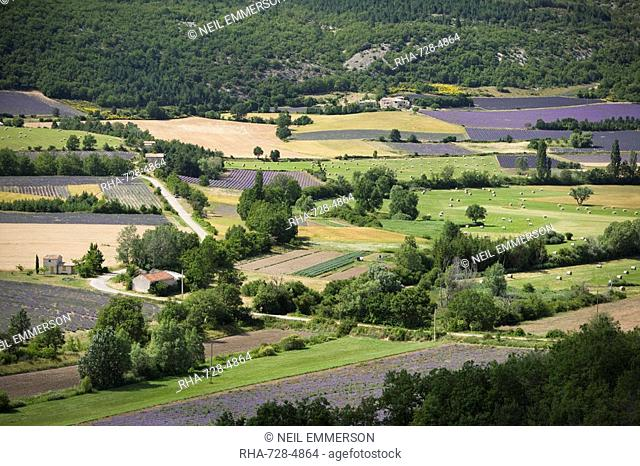 Fields, Provence, France, Europe