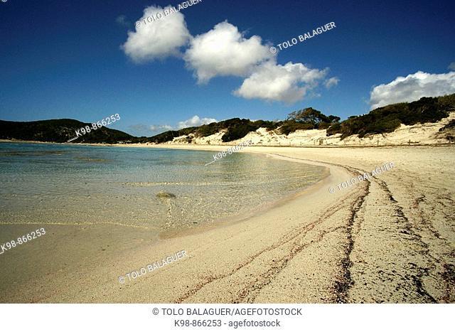 Ses Salines beach, Ibiza. Balearic Islands, Spain