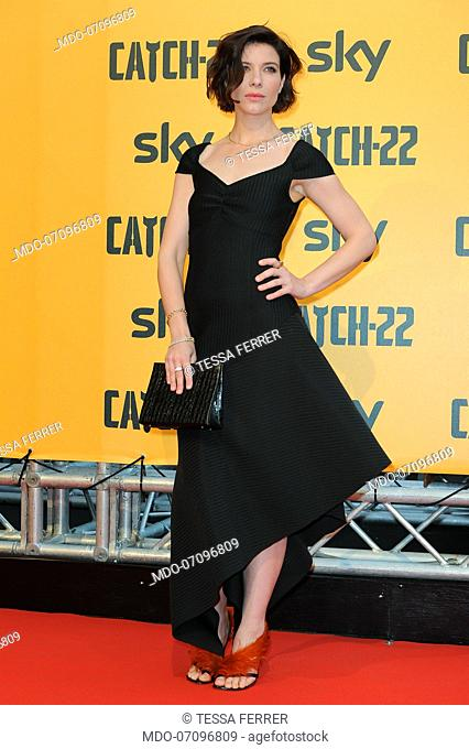 American actress Tessa Ferrer attends the premiere of the Sky TV serie Catch-22. Rome (Italy), May 13th, 2019