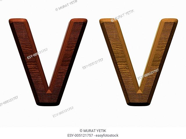 one letter of wooden alphabet