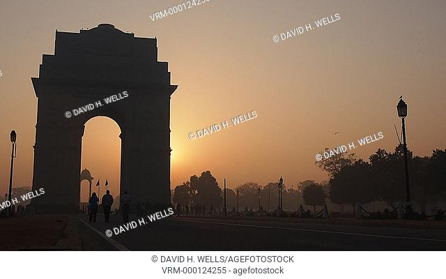 Sunrise at India Gate in New Delhi, India