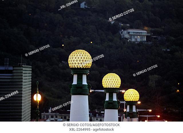 Lamps of the Kursaal in San Sebastian Bridge