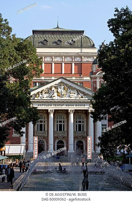 Facade, Ivan Vazov Theatre (Nacionalen Teatar Ivan Vazov) (1907-1929), Sofia, Bulgaria