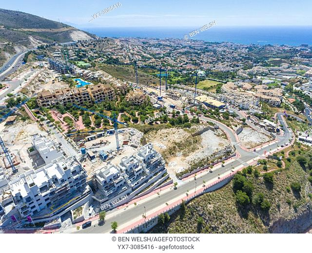 Real estate construction. Benalmadena costa, Malaga, Costa del Sol, Andalusia, Spain