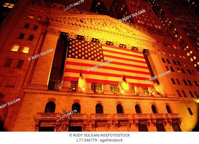 The New York Stock Exchange, Wall Street. New York City. USA