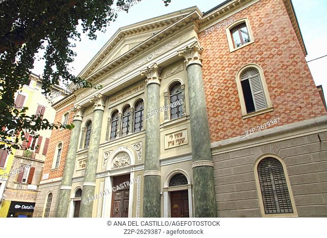 Modena is world heritage site in Italy Synagogue building on September 5, 2015 in Italy