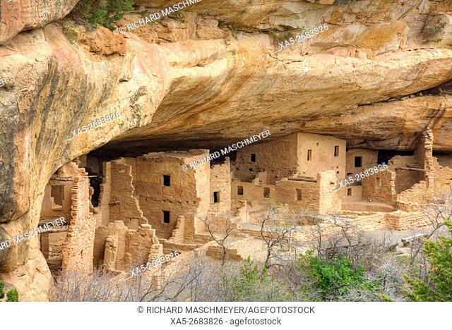 Anasazi Ruins, Spruce Tree House, Mesa Verde National Park, UNESCO World Heritage Site, 600 A.D. - 1,300 A.D., Colorado, USA