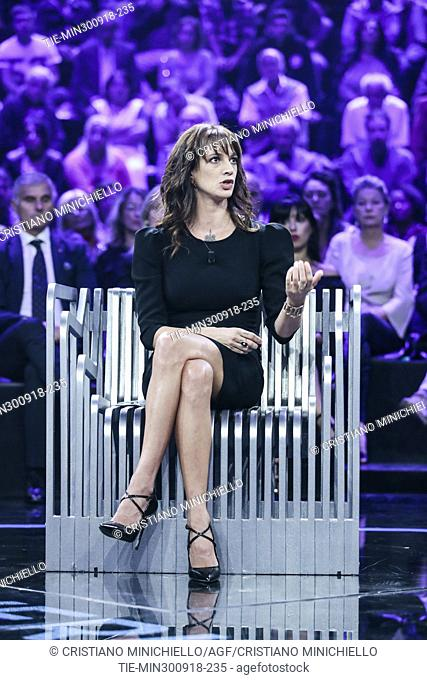 Italian actress and director Asia Argento during the the tv show Non e' l'Arena in Rome, ITALY-30-09-2018