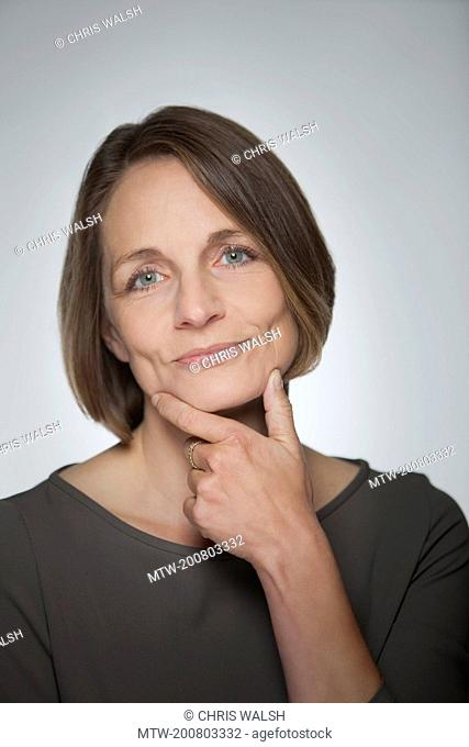 Businesswoman portrait serious mature middle aged
