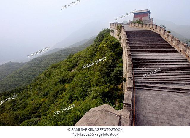 Steps on the Great Wall at Juyongguan Gate near Badaling, China