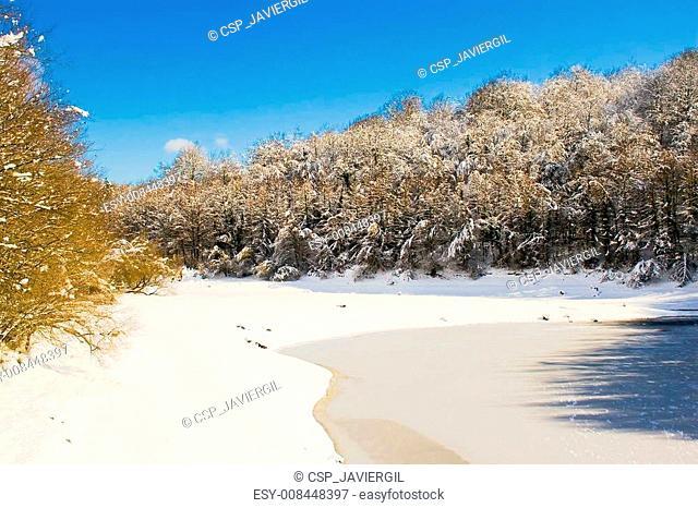 Lago de Legutiano helado