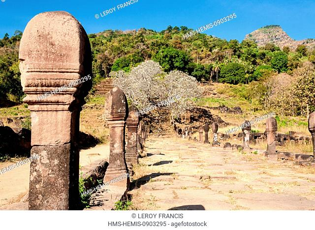 Laos, Champasak Province, Champasak, Khmer temples site of Vat Phou (Wat Phu) of the 11-13th centuries, listed as World Heritage by UNESCO