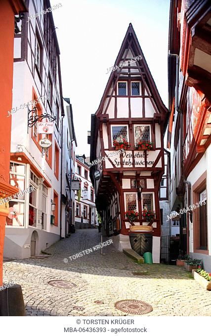 Spitzhäuschen (house) in the Old Town of Bernkastel, Bernkastel-Kues, Rhineland-Palatinate, Germany