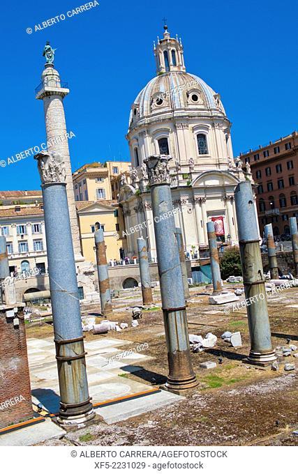 Santa María di Loreto Church, Trajan's Forum, Rome, Lazio, Italy, Europe
