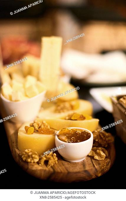 Selection of Cheeses with Jam and Nuts