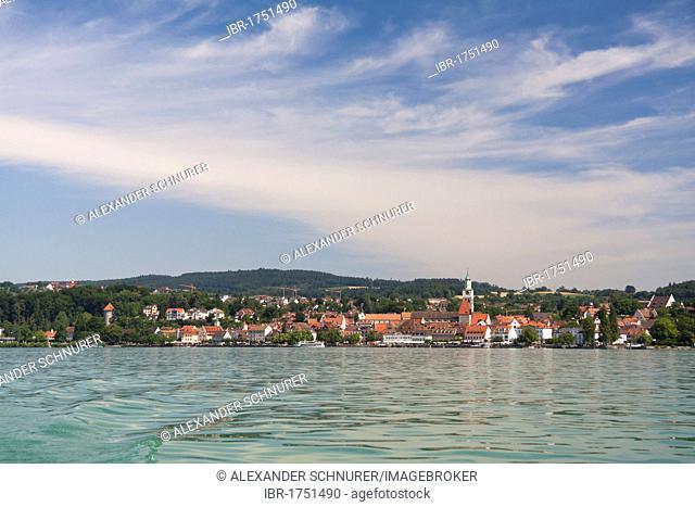 Ueberlingen seen from Lake Constance, Baden-Wuerttemberg, Germany, Europe