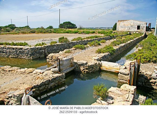 Old saltworks, Ses Salines. Formentera, Balearic Islands, Spain