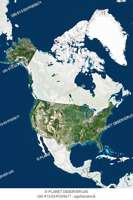 United States, Satellite Image